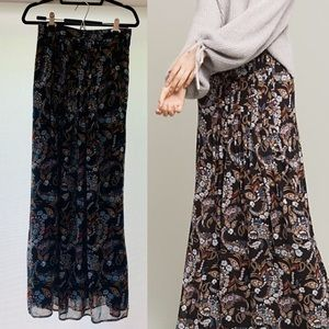Anthropologie Floral Maxi Skirt by Wayf